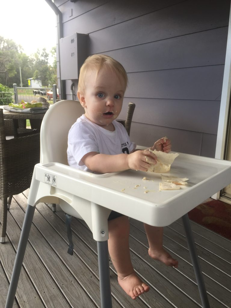 Eating on holidays with a toddler.