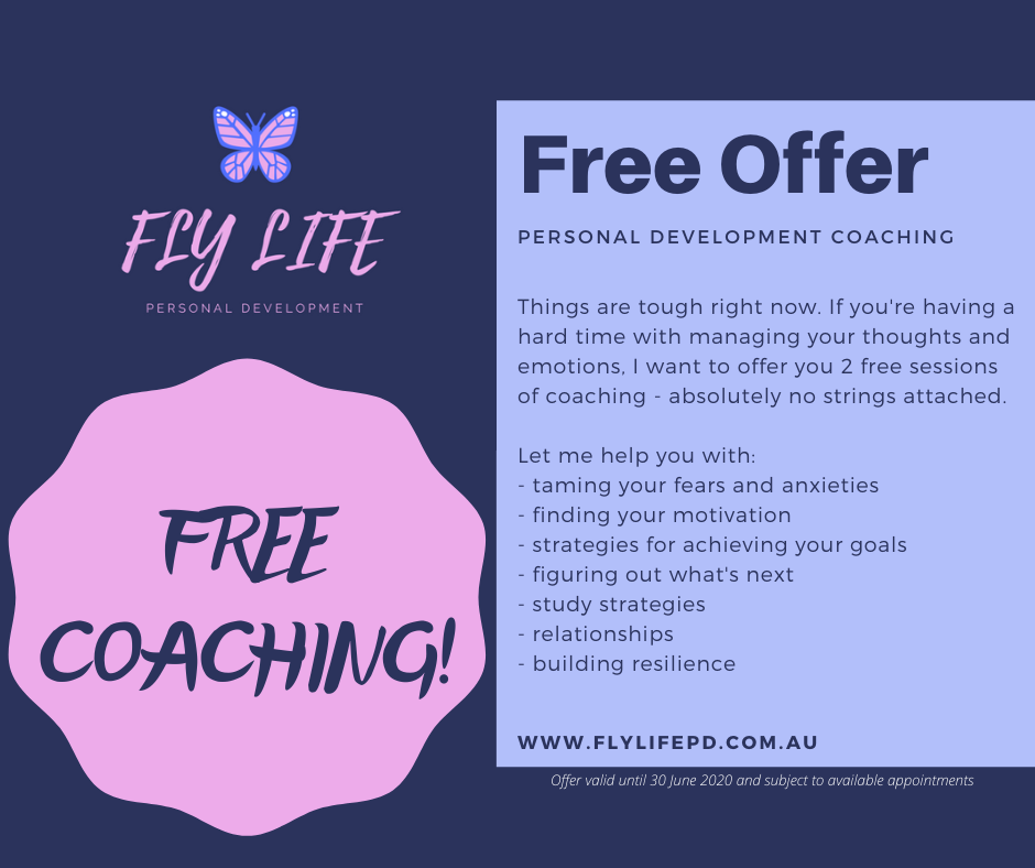 Free coaching for help with taming your fears and anxieties.